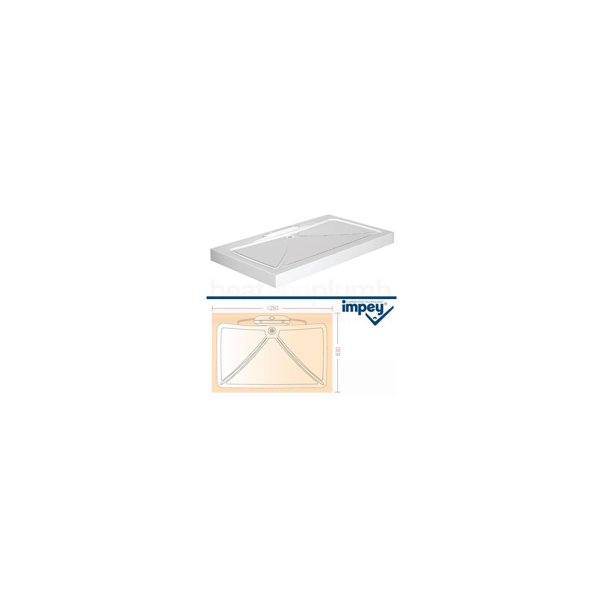 Impey Mendip Shower Tray 1250mm x 830mm at Tescos Direct