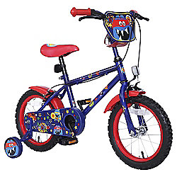 "Monster Hero 14"" Kids' Bike with Stabilisers"
