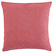 Cotton Chambray Cushion Red