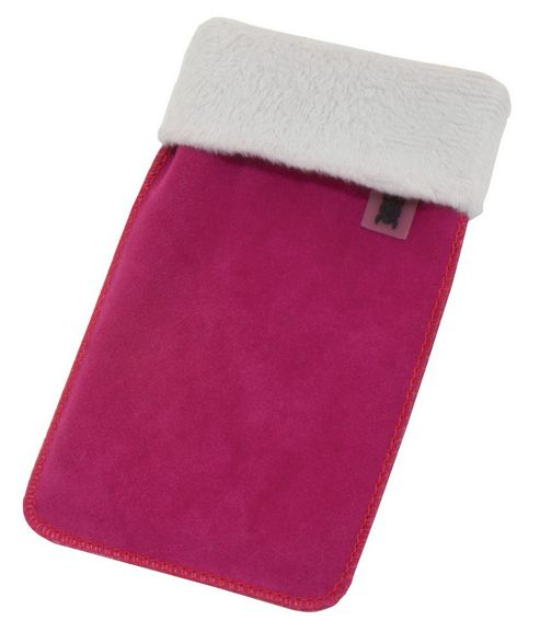 Tortoise™ Universal Faux Suede Pouch Pink with White Top