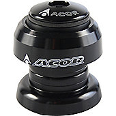Acor 1.1/8inch Alloy Aheadset: Black.