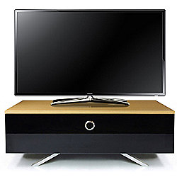 MDA Designs Cubic Hybrid Oak and Black TV Stand