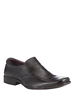 F&F Leather Slip on Shoes - Black