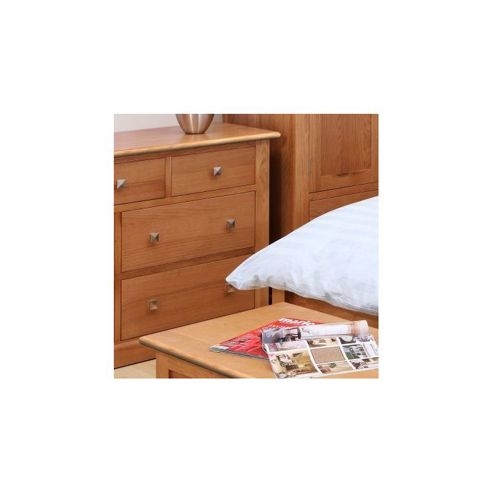 Kelburn Furniture Pitkin Oak 7 Drawer Chest