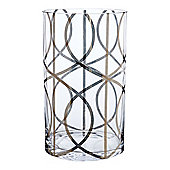 Living By Christiane Lemieux Gate Glass Small Vase Silver