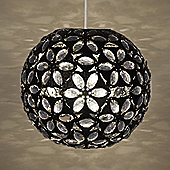 Moroccan Style Metal Ceiling Pendant Light Shade in Black