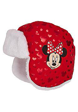 Disney Minnie Mouse Trapper Hat - Red