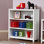 Hickory 3 Shelf Bookcase - White