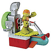 Teenage Mutant Ninja Turtles Half-Shell Heroes Sewer Cruiser with Michelangelo Figure