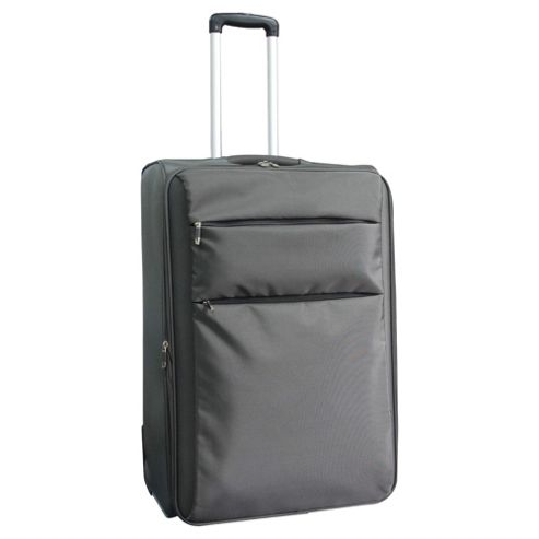 Tesco 2-Wheel Ultra Lightweight Suitcase, Grey Medium
