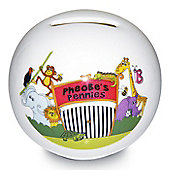 Personalised Zoo Money Box