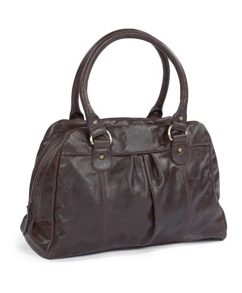 Mamas & Papas - Audrey Leather Changing Bag - Chocolate Brown