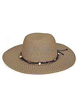 Ladies Sun Hat with Beads