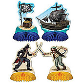 Pirate Playmates Honeycomb Centrepieces, Pack of 4