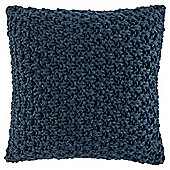 Loose Knit Cushion Navy