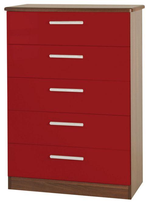 Welcome Furniture Knightsbridge 5 Drawer Chest - Oak - Ruby