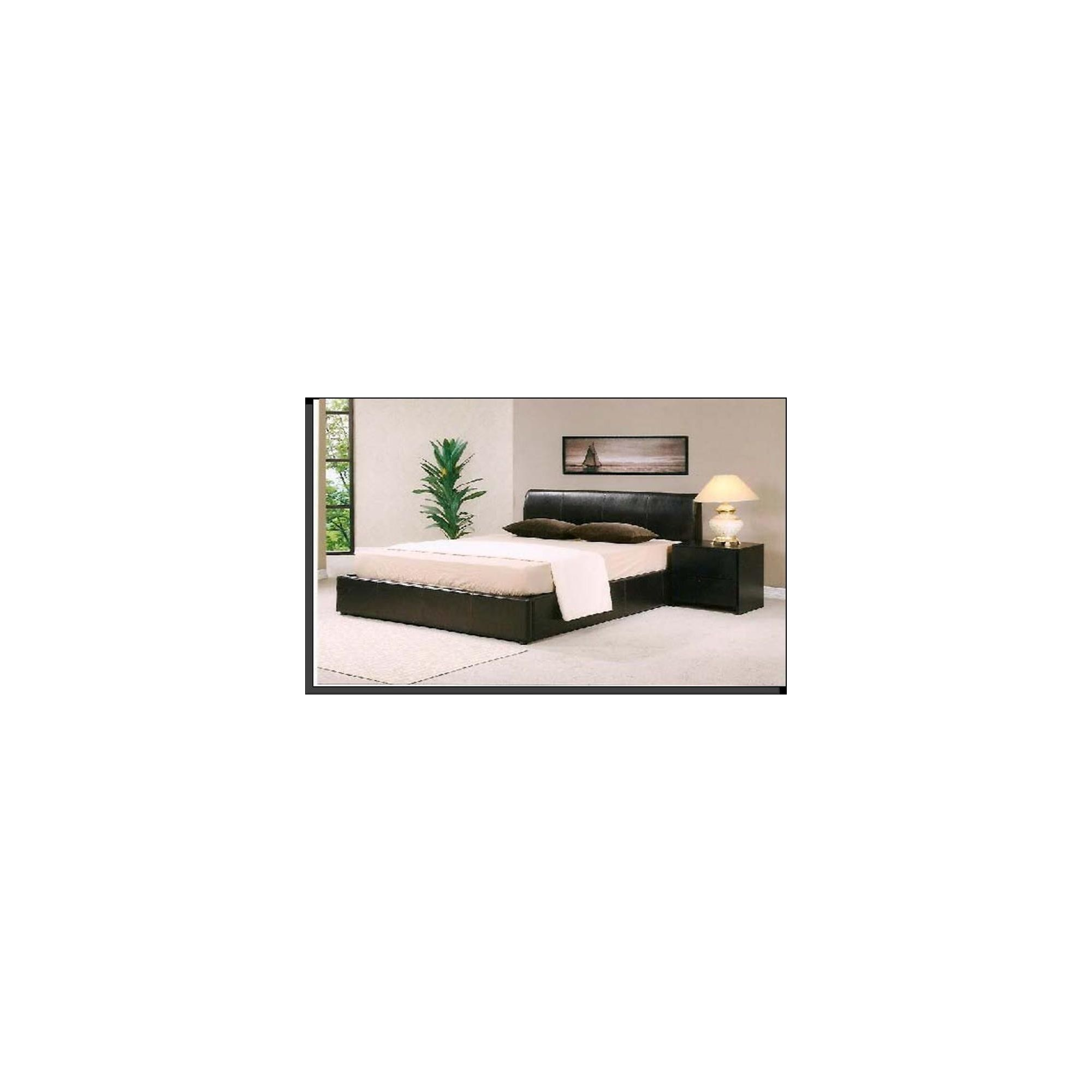 Ideal Furniture Elise Storage Bed - Black - King at Tesco Direct
