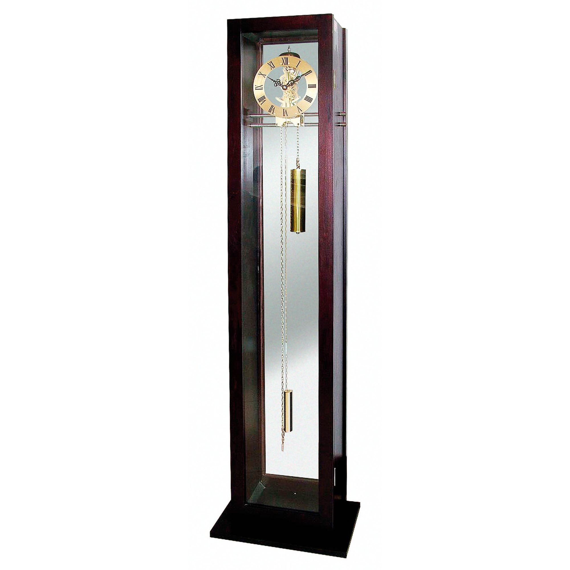 Premier Housewares Grandfather Clock Mahogany and Glass Case at Tesco Direct