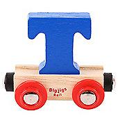 Bigjigs Rail Rail Name Letter T (Dark Blue)