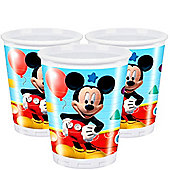 Mickey Mouse Cups - 200ml Plastic Party Cups, Pack of 8