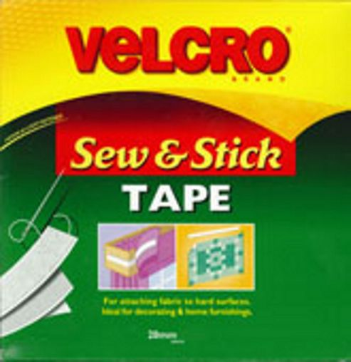 Velcro - Sew N Stick 20mm - White