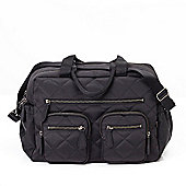 OiOi Diamond Quilt Carry All Bag (Black)