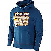 2011-12 Barcelona Nike Core Hooded Top (Blue) - Blue
