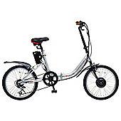 """Hopper E-Club 20"""" Electric Bike Silver"""