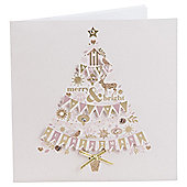 Bunting Tree Luxury Christmas Cards, 6 pack