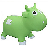 Bella inflatable cow space hopper - green & white