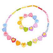 Bigjigs Toys Rainbow Heart Jewellery Set (Heart Shaped Beads)