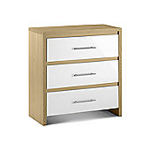 Home Zone Copenhagen 3 Drawer Chest