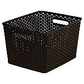Curver My Style Large 18L Storage Basket, Brown
