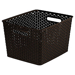 Curver My Style Brown 18L Storage Basket