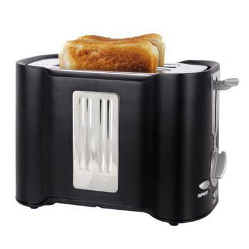 Lloytron E2011BK 2 Slice 850w Toaster - Black/Chrome
