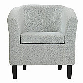 Mayfair Calico Silver Fabric Tub Chair