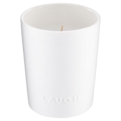 Tesco Laugh Boxed Candle Pink Lemonade & Peach