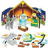 Christmas Crafts 3D Foam Nativity Scenes (2 Pcs)