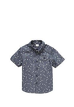 F&F Arrow Print Short Sleeve Shirt - Blue