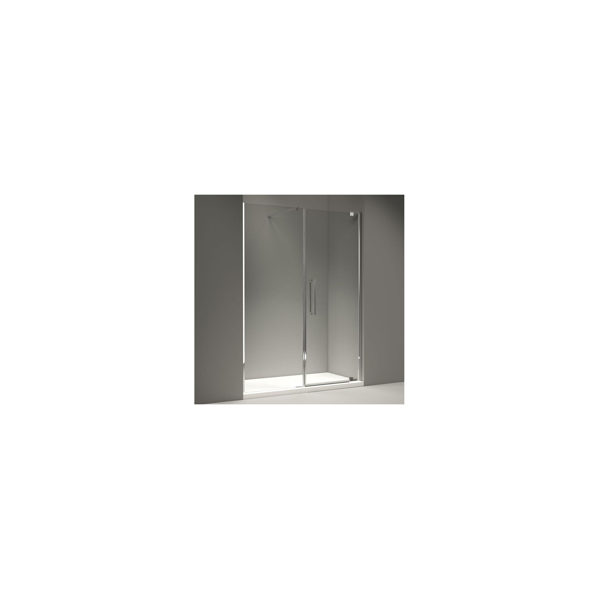 Merlyn Series 10 Inline Pivot Shower Door, 1500mm Wide, 10mm Clear Glass at Tescos Direct