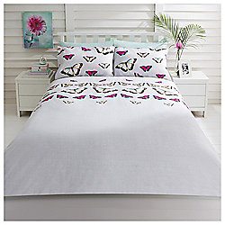 Digital Butterfly Single Duvet Cover And Pillowcase Set