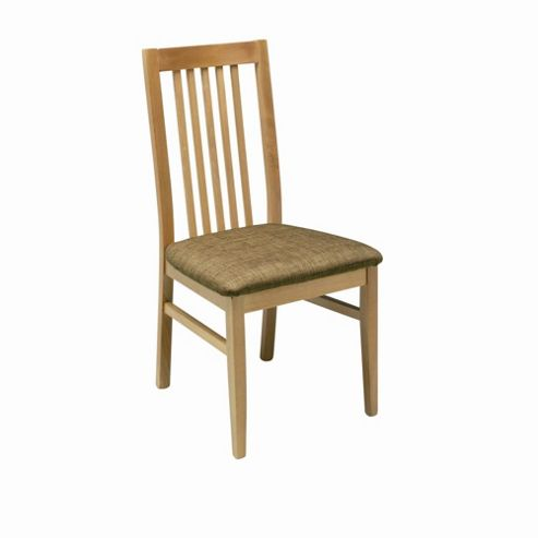 Caxton Strand Pair of Slatted Back Dining Chair in Oak