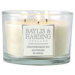 Baylis & Harding Sea Breeze And Cotton Mulitwick Candle