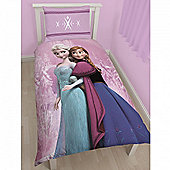 Disney Frozen Elsa Anna 'Spring' Single Panel Bed Duvet Quilt Cover Set