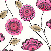 Superfresco Romany Raspberry Wallpaper