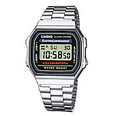 Casio Classic Unisex Stainless Steel Chronograph, Day & Date, Watch A168WA-1YES