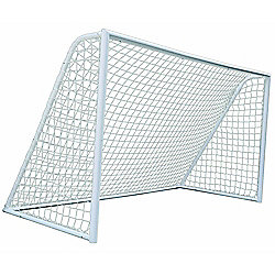 Woodworm 12Ft / 3.65M Heavy Duty Metal Goal Post And Net - For Home And Clubs