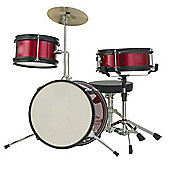 Rocket 3 Piece Junior Drum Kit - Red