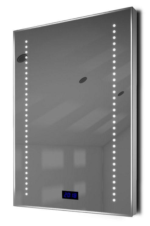 Buy Digital Clock Slim Bathroom Mirror With Rgb Lighting Demist Sensor K184rgb From Our