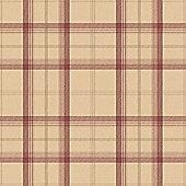 Cambridge Plaid Tartan Wallpaper - Red and Gold - FD40532